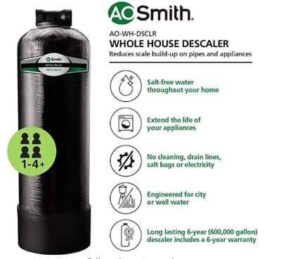 AO Smith Whole House Water Descaler